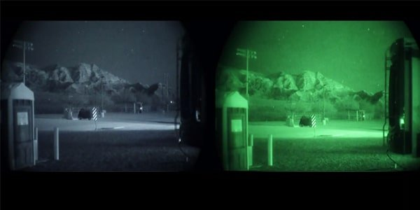 White phosphor vs green night vision
